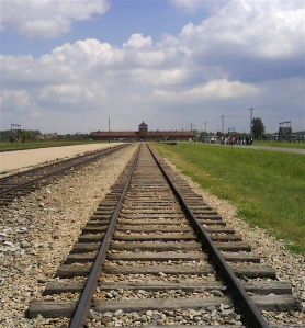 Train line to Auschwitz II - Birkenau