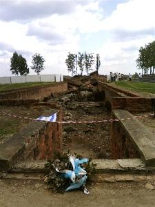 Destroyed underground gas chamber