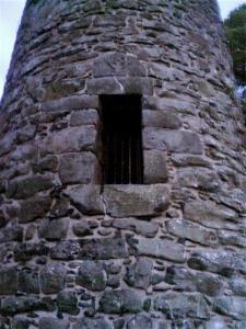 Up here! Tower door.