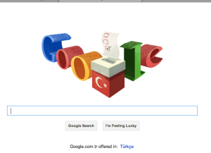 Today's Google Doodle in Turkey