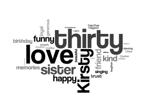 Happy 30th Birthday Kirsty